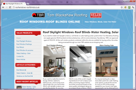 VELUX Roof Windows, Blinds, Solar Hot Water - Online Sales - Tom Blackshaw Roofing